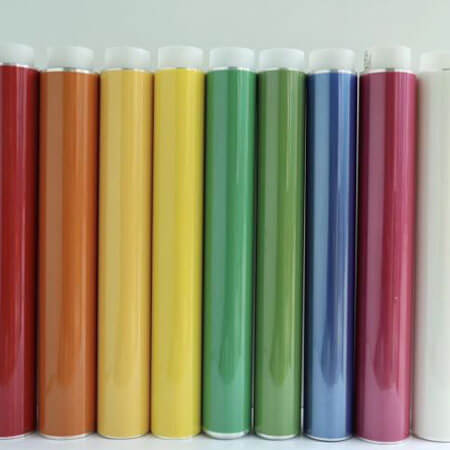 Colors High Temperature PET Silicone Adhesive Green Tape