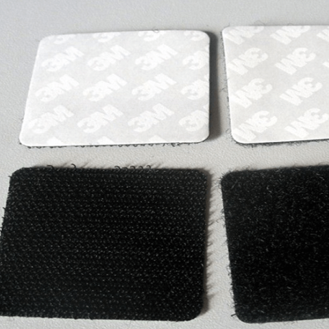 Hook and Loop Coated With Adhesive Tape