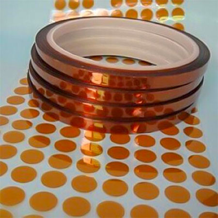 Die Cut Polyimide Film Tape Dots For PCB