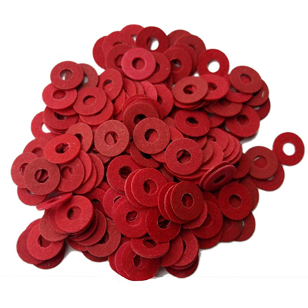 Free sample red vulcanized fiber paper gasket Die Cutting for insulation