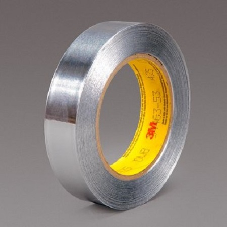 3M 431 439L Aluminum Foil Tape For Heat Shielding And Reflecting, Light Enhancement, Seaming And Sealing