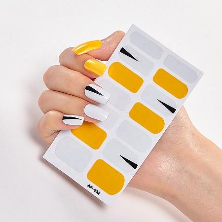 Clear Natural Acrylic Nail Tips new design nail art wrap nail art stickers