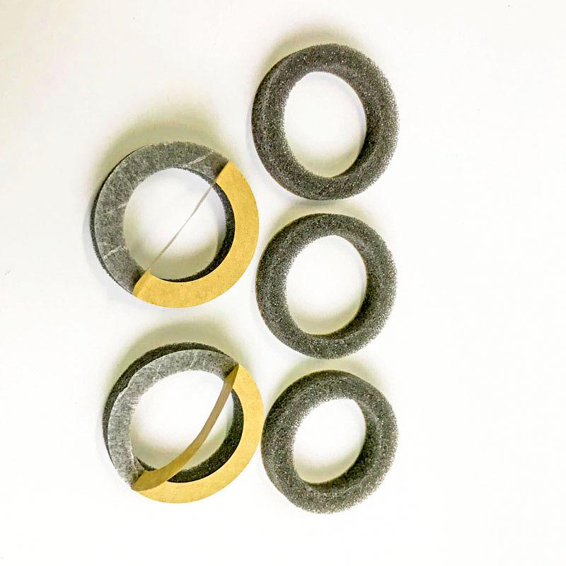 Die cutting Waterproof and shockproof PU foam Custom soak rubber foam anti – sink block PU buoy sponge
