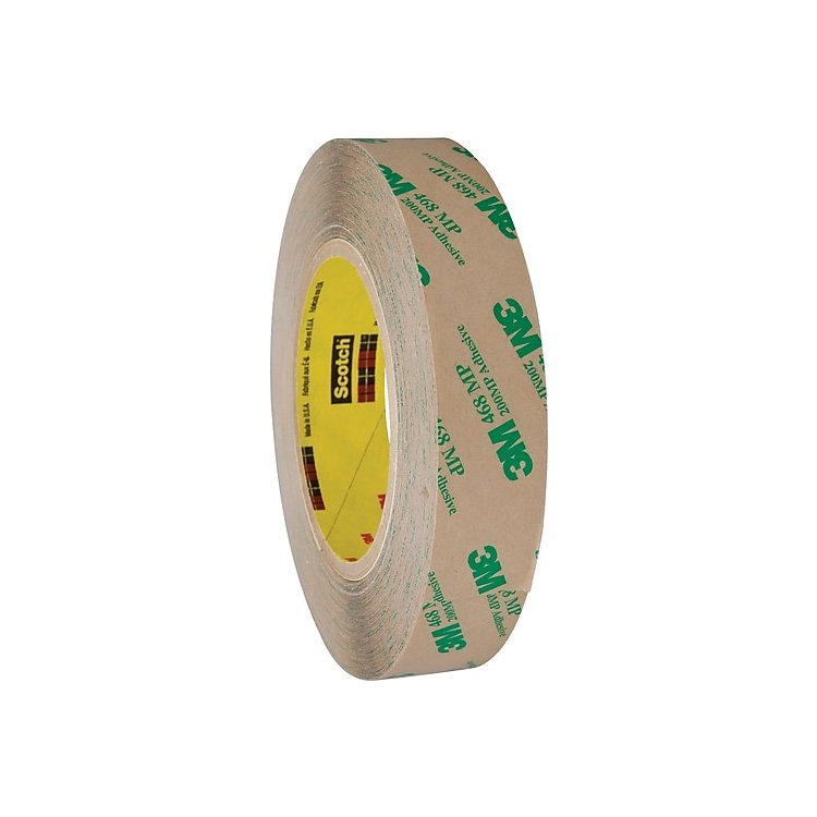 3M 468MP Double Sided Adhesive Transfer Tape with 200MP adhesive