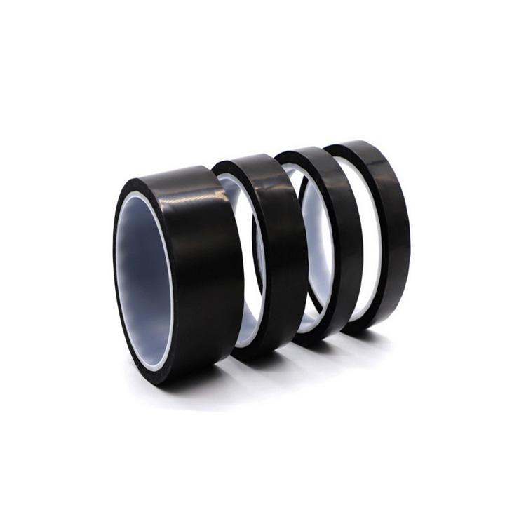 ESD Black PI Kaptone Black Antistatic Matte Black Polyimide Film Tape For Speaker Voice Coil