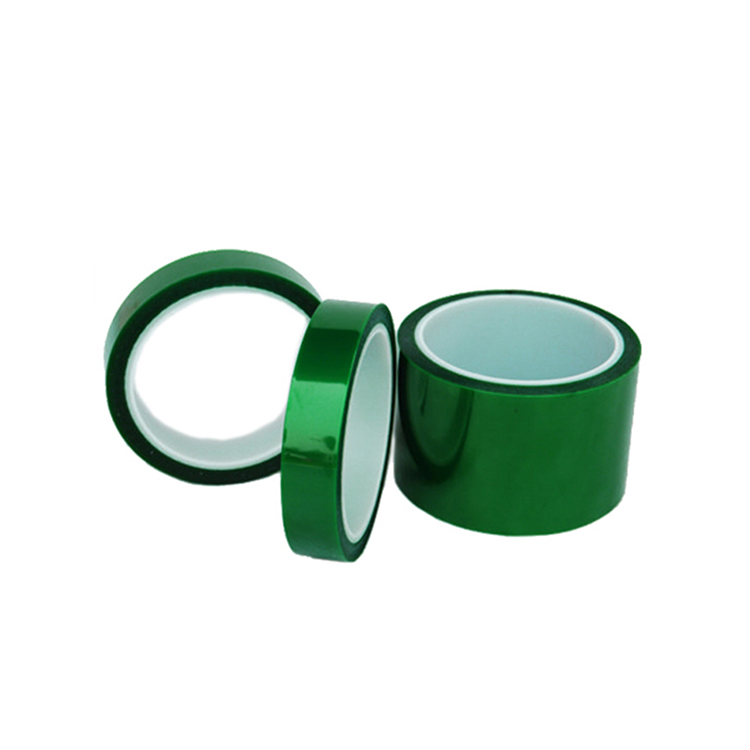 High temperature PET tape insulation tape green PET polyester tape for Electroplating paint