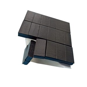 Black conductive foam pad die cut self adhesive conductive foam sheet of electronic products
