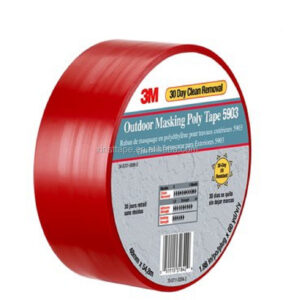 3M 5903 Outdoor Masking Poly Tape for easy application on stucco and other challenging